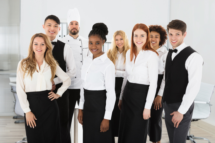 Waitstaff in uniform