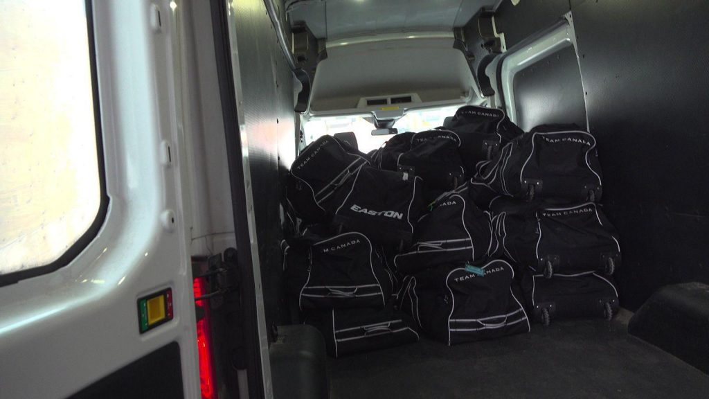 Scheduled Hockey Team Equipment Pickup & Delivery